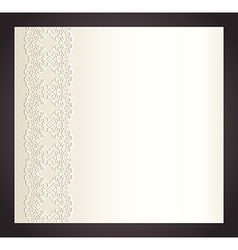 Luxury creamy invitation with imitation of lace vector