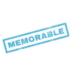Memorable rubber stamp vector