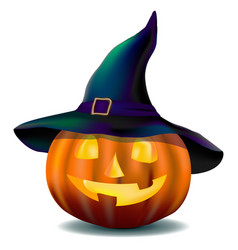 Pumpkin in hat vector