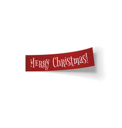Realistic textile bend christmas ribbon vector