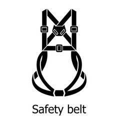 safety belt icon simple black style vector image vector image