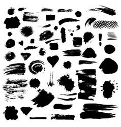 Set of paint stains vector