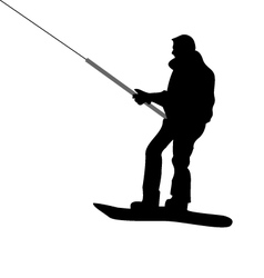 Silhouette of Snowboarder vector image vector image