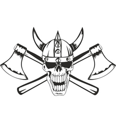 skull and axes vector image vector image