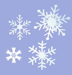 Snowflake greeting card vector