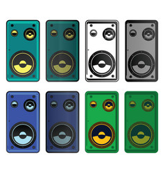 speakers mini set vector image