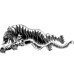 thai traditional tattoo tiger vector image vector image