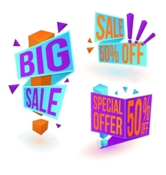 Three sale banners vector image vector image