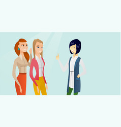 Young multicultural women sharing gossips vector