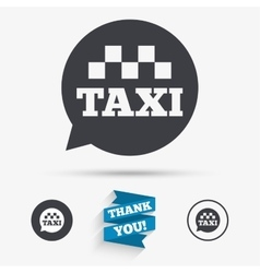 Taxi speech bubble sign icon public transport vector