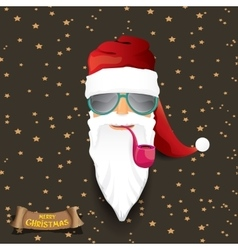 Rock n roll santa claus vector