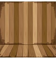 Background in wooden shape floor vector