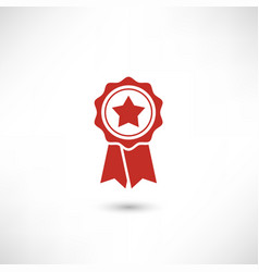 red badge star vector image