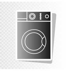 Washing machine sign  new year blackish vector
