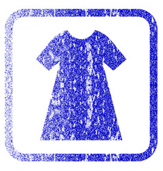 Woman dress framed textured icon vector