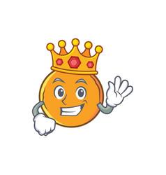 King orange fruit cartoon character vector