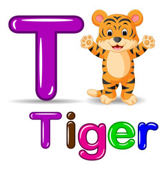 cute tiger cartoon vector image
