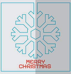 Christmas Retro With Snowflake vector image