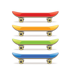 Skateboard set isolated vector