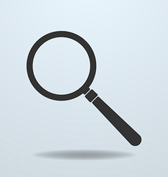 Icon of magnifier glass vector