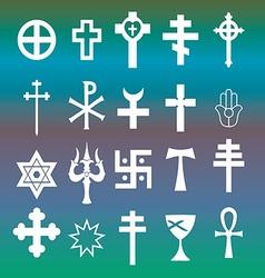 various religious symbols vector image