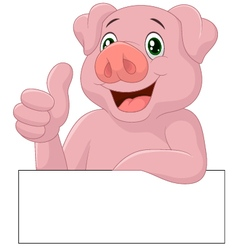 Pig giving thumb up vector