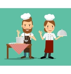 Culinary chefs vector