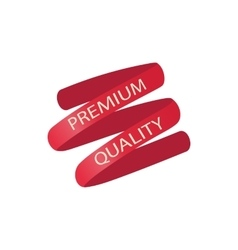 Premium quality red ribbon icon cartoon style vector