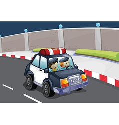 A police car vector image