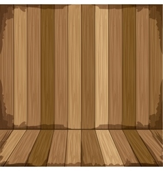 Background in wooden shape floor vector