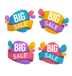 big sale collection of bright discount bubble vector image