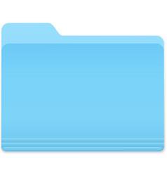 Blue folder icon vector