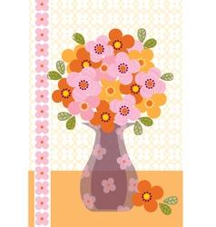 bouquet in vase vector image vector image