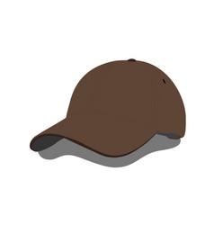 brown baseball cap vector image