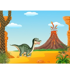 Cartoon funny dinosaur vector image vector image