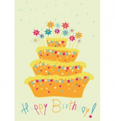 childlike birthday cake vector image