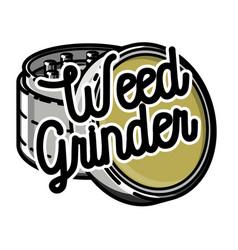 Color vintage marijuana emblem vector