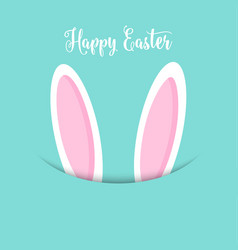 Easter bunny ears background vector
