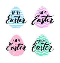 Happy easter lettering for sticker vector