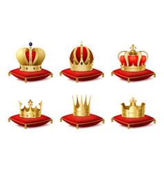 Heraldic crowns set vector