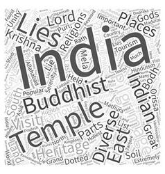 Indian pilgrimages word cloud concept vector