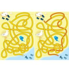 kids maze vector image vector image