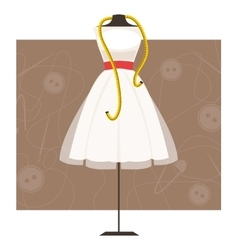 Mannequin with dress vector