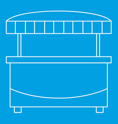 Market stand kiosk stall icon outline style vector