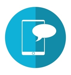 Mobile device chat dialog design shadow vector