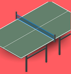 Ping pong table is an isometric vector