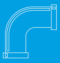 Pipe icon outline style vector