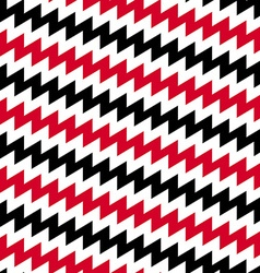 Red black and white diagonal chevron seamless vector