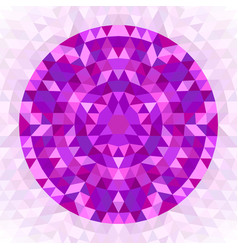 Round abstract geometrical triangle kaleidoscopic vector