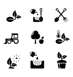 set aqriculture objects vector image vector image